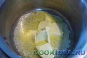 Масло растапливаем и добавляем его ...