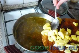 Солёные огурцы выложить в суп ...