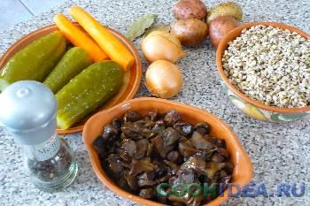 Рассольник с грибами - Используемые продукты