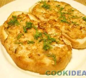 Бутерброды с горбушей горячие