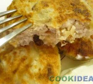 Cырники с черносливом и грецкими