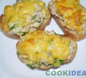 Горячие бутерброды c курицей