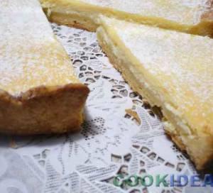 Песочный торт с творожной начинкой