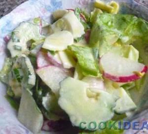 Салат домашний с редиской