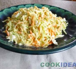Салат из зелёной редьки с яйцом