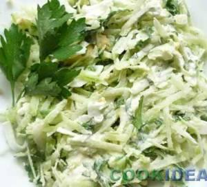 Салат из зелёной редьки