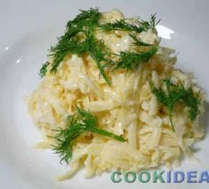 Салат с репой и сыром
