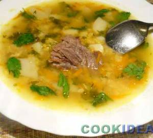 Суп гороховый с говядиной