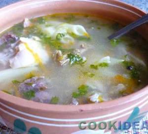 """Суп куриный с """"перьями""""."""