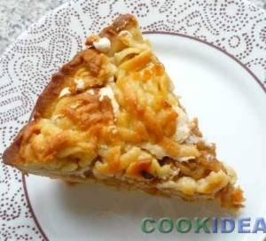 """Яблочный пирог """"Под нежной шубкой""""."""