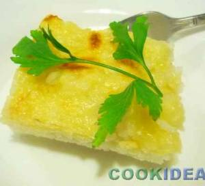 Запеканка из риса с сыром