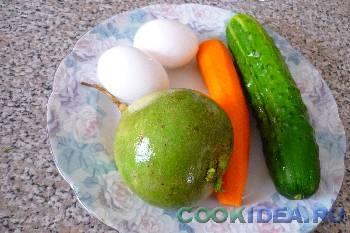 Салат из зелёной редьки с яйцом - Ингредиенты
