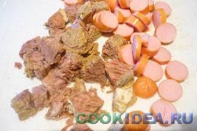 Мясные продукты (варёные или жареные) ...