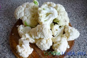 Цветная капуста в кляре - Используемые продукты
